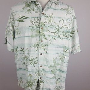Tommy Bahama Silk Button Front Shirt Mens Large